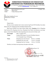 Ujian Remedial bagi Peserta PLPG Sesi 1 dan 2 Rayon 110 UPI Bandung
