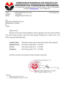 Jadwal PLPG Sesi 8 Rayon 110 UPI Bandung