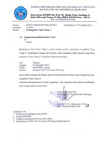 PEMANGGILAN ULANG 2 RAYON LPTK 136 UNSIL